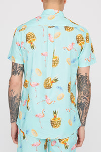 Zoo York Mens Graphic Button-Up Shirt