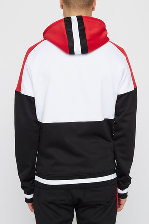 Young & Reckless Mens Colour Block Hoodie