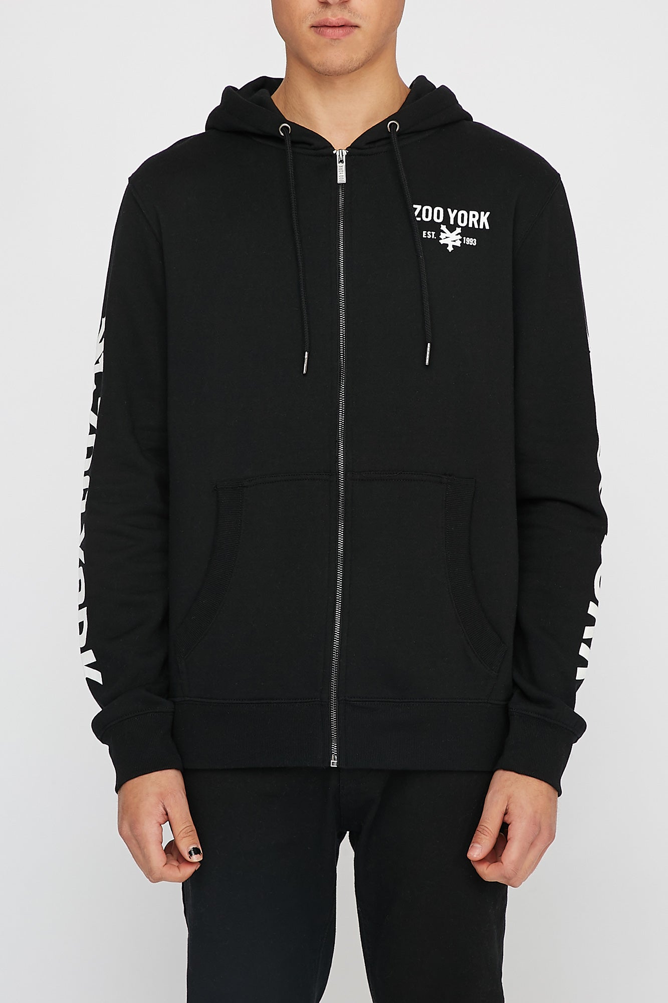 Zoo York Mens Graphic Zip-Up Hoodie