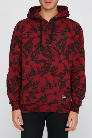 Young & Reckless Mens Floral Popover Hoodie