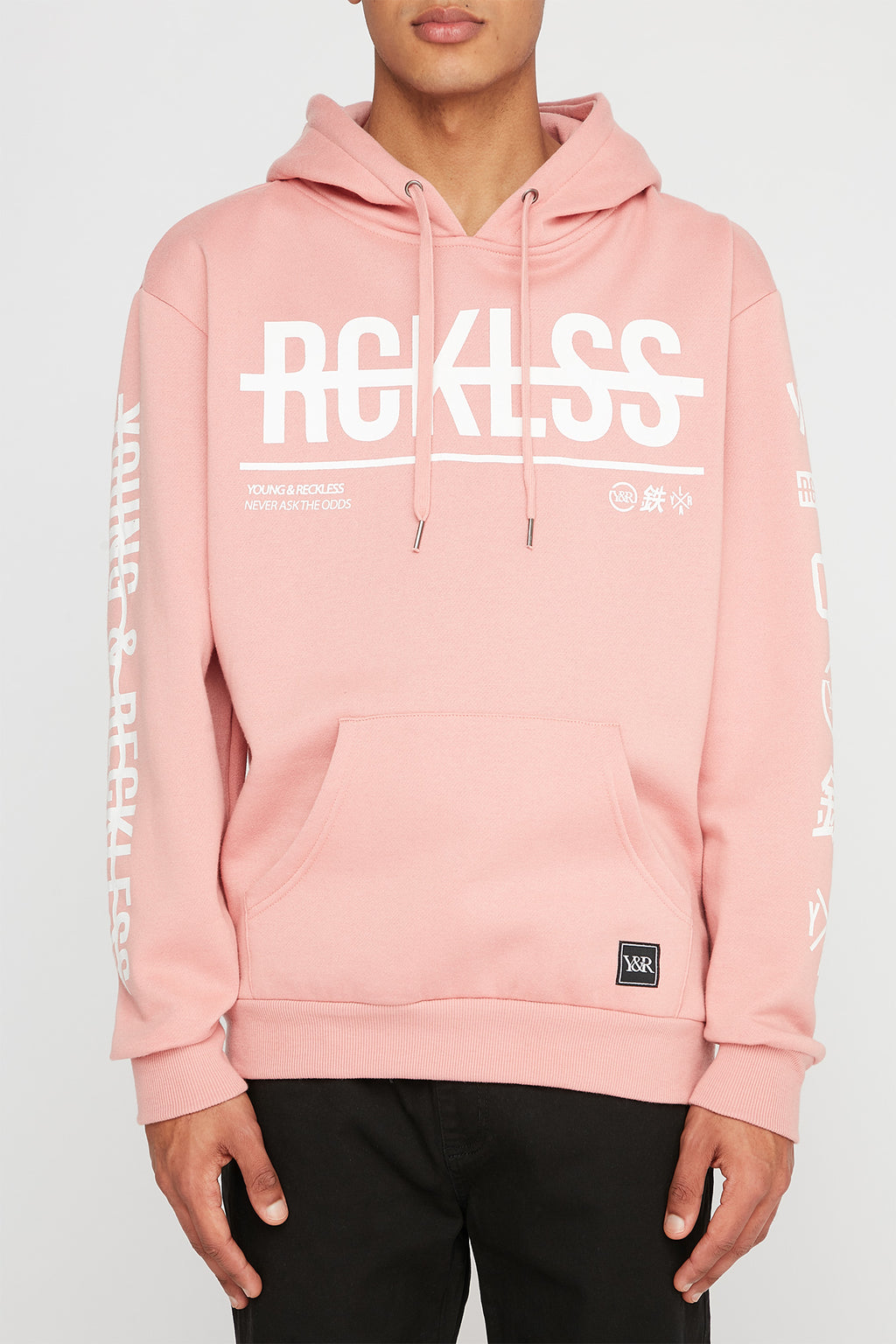 Young & Reckless Mens Strikethrough Logo Hoodie