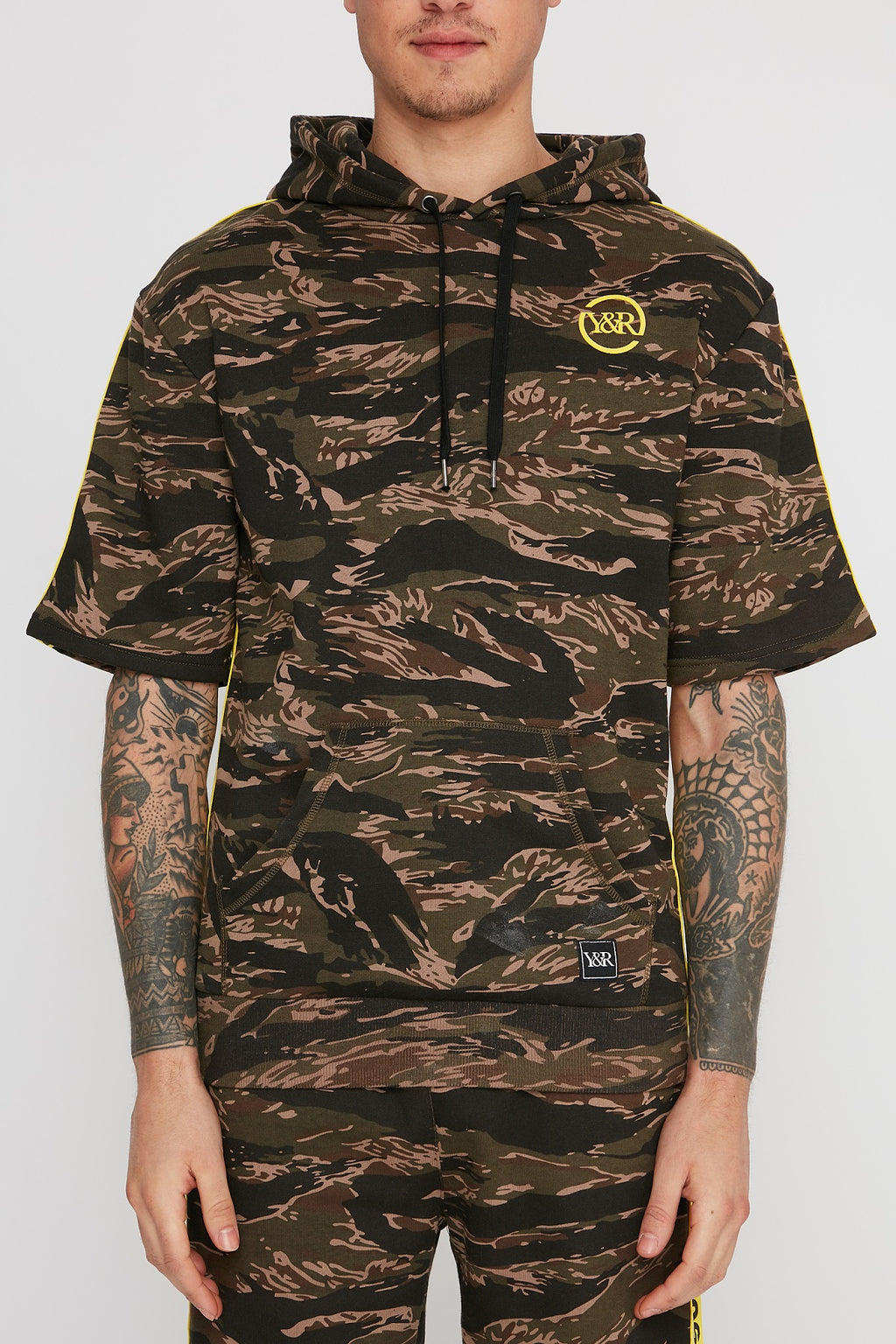 Young & Reckless Mens Camo Short Sleeve Hoodie