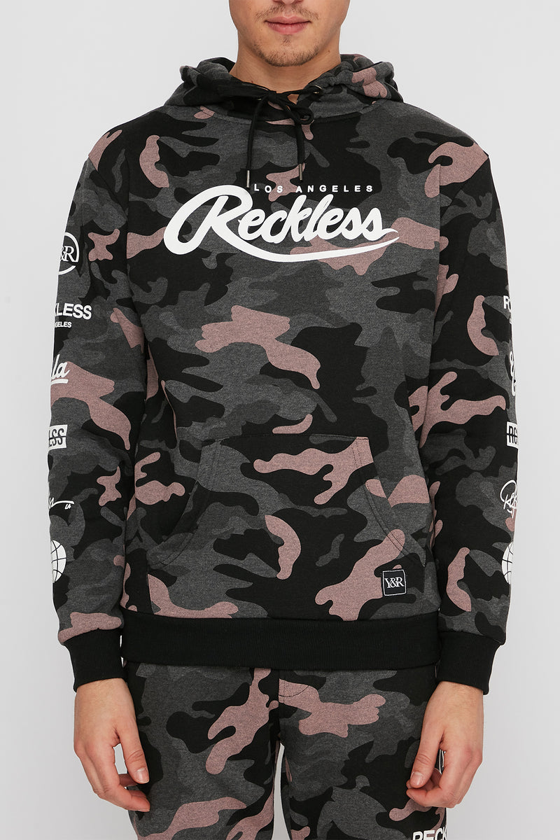 Young & Reckless Mens Camo Hoodie
