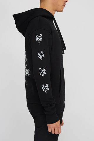 Zoo York Mens Graffiti Popover Hoodie - Black