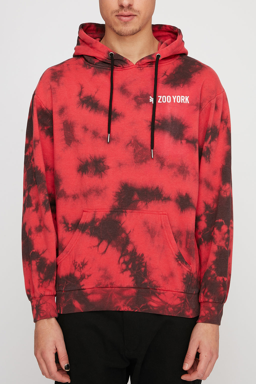 Zoo York Mens Optical Illusion Tie Dye Hoodie