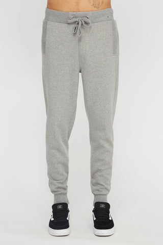 West49 Mens Solid Ribbed Pocket Jogger - Grey