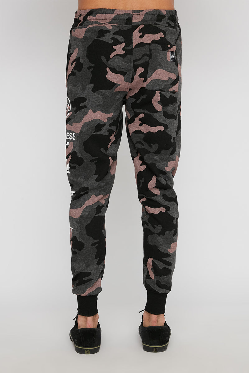 Young & Reckless Mens Camo Jogger