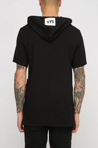 Young & Reckless Mens Floral Hooded T-Shirt