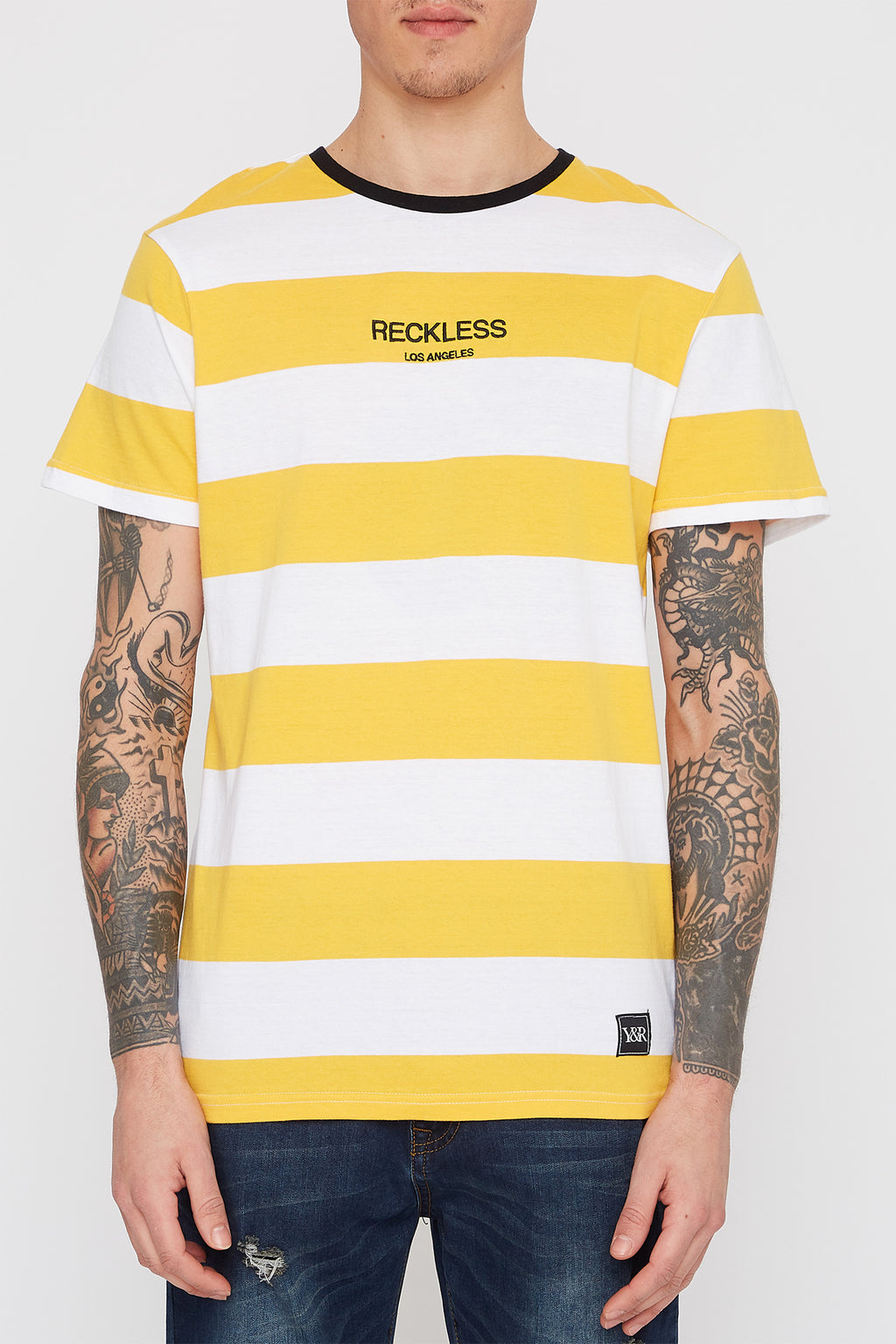 Young & Reckless Mens Striped T-Shirt
