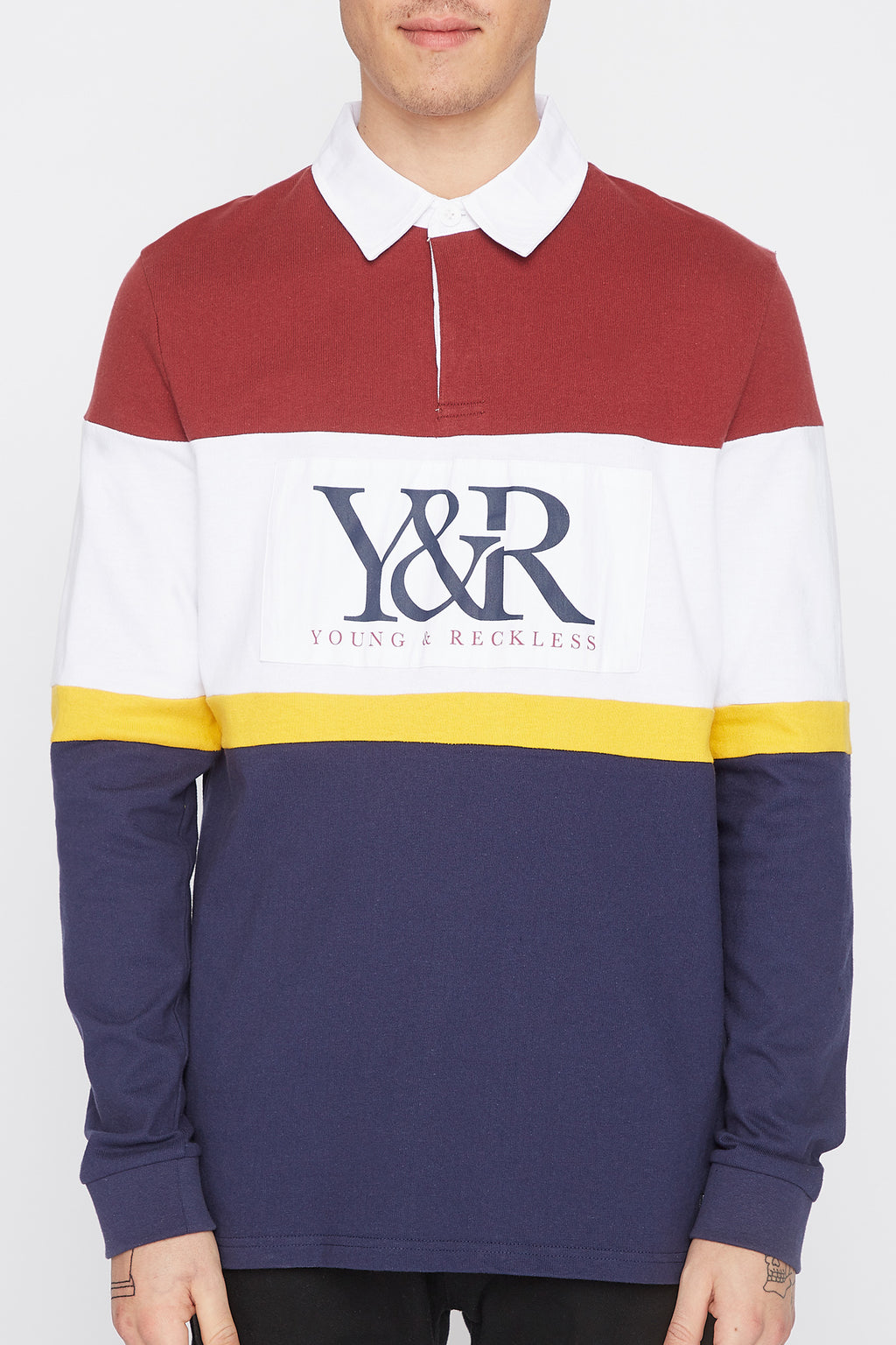 Young & Reckless Mens Rugby Long Sleeve