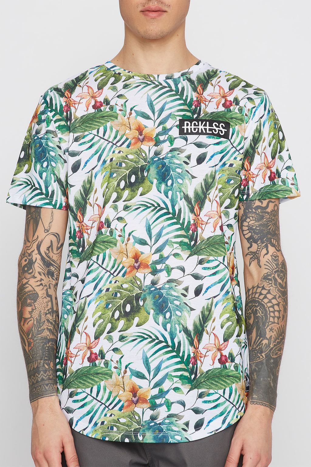 Young & Reckless Mens Tropical T-Shirt