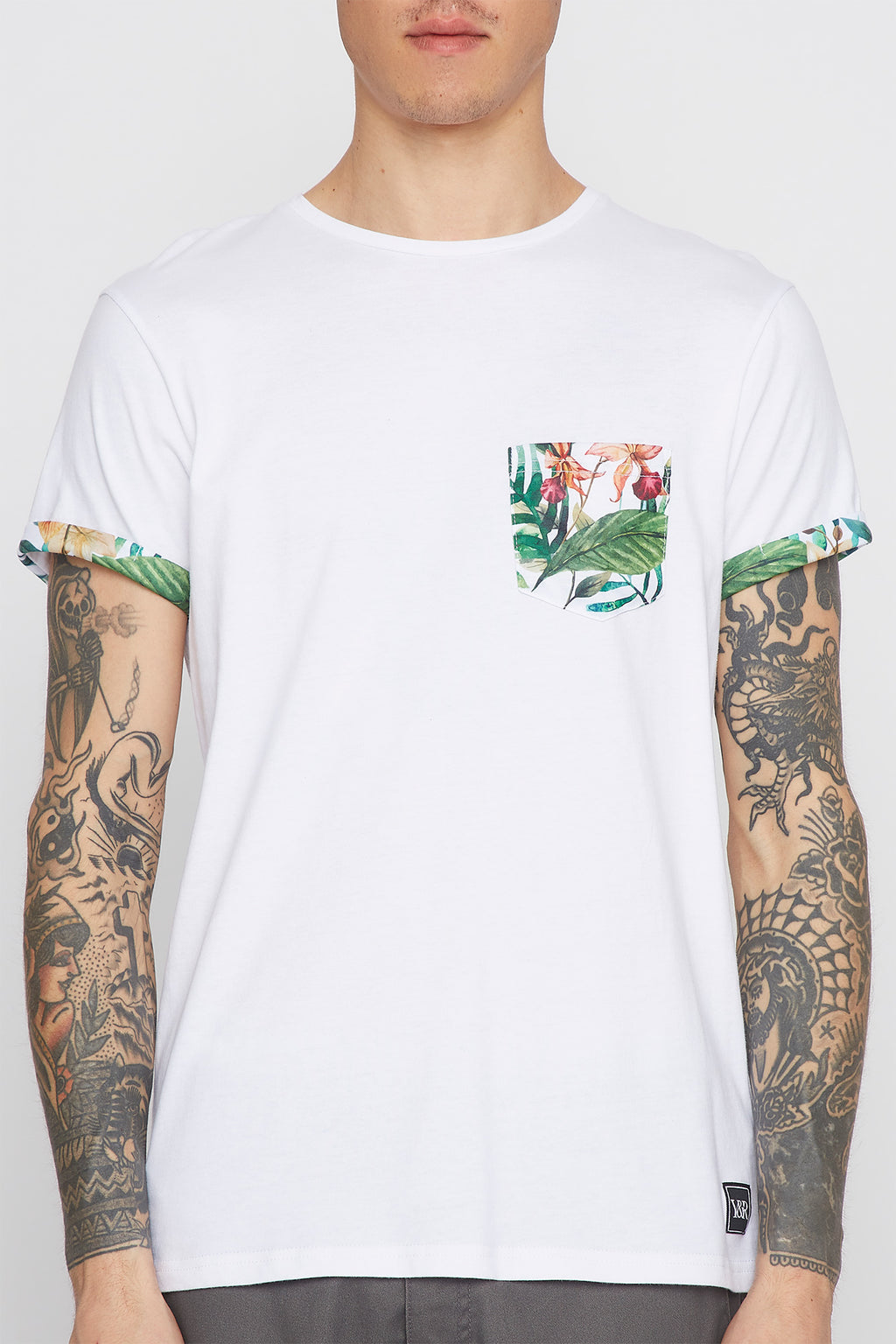 Young & Reckless Mens Tropical Pocket Tee