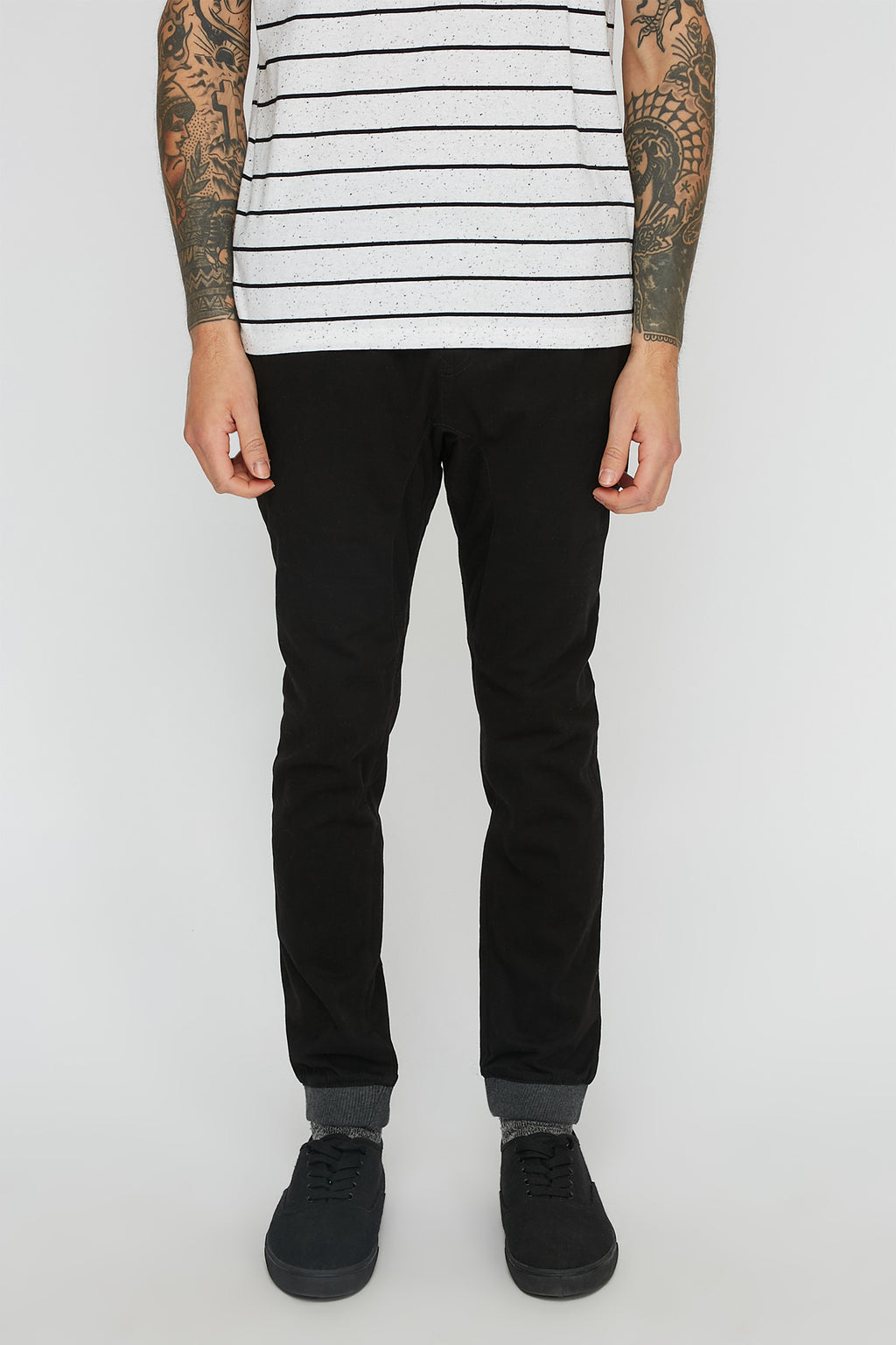 West49 Mens Solid Twill Jogger