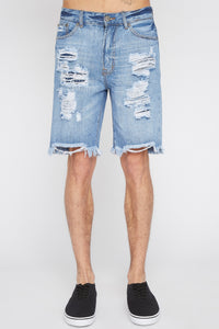 West49  Mens Distressed Shorts
