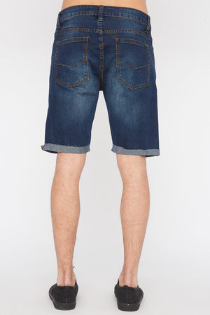 West49 Mens Distressed Denim Shorts