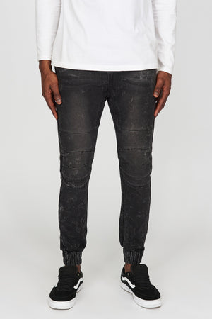 Zoo York Mens Denim Moto Jogger