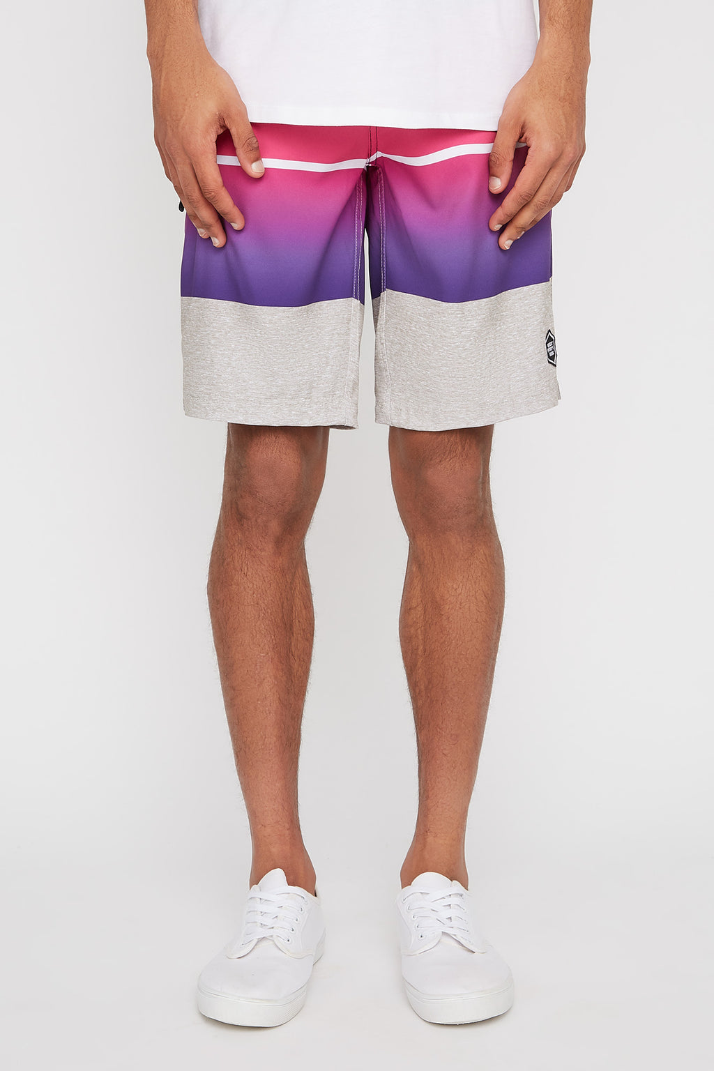 West49 Mens Striped Board Shorts