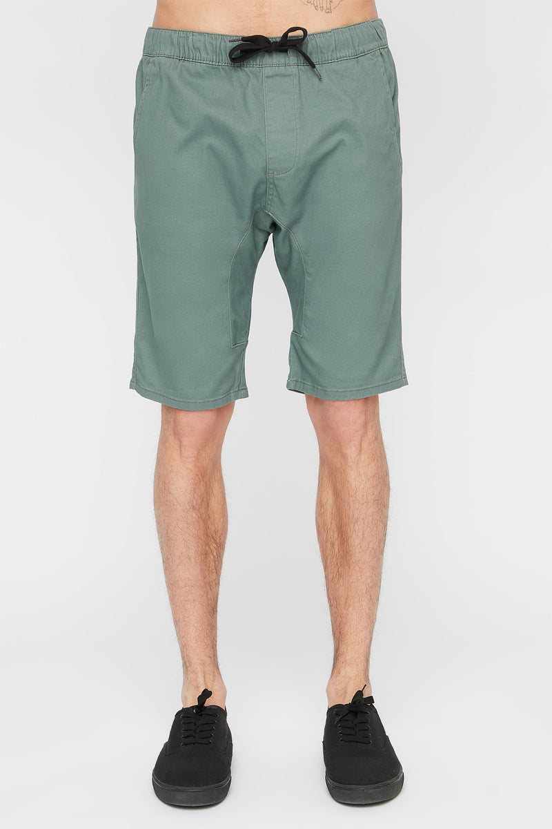 West49 Mens Twill Jogger Shorts