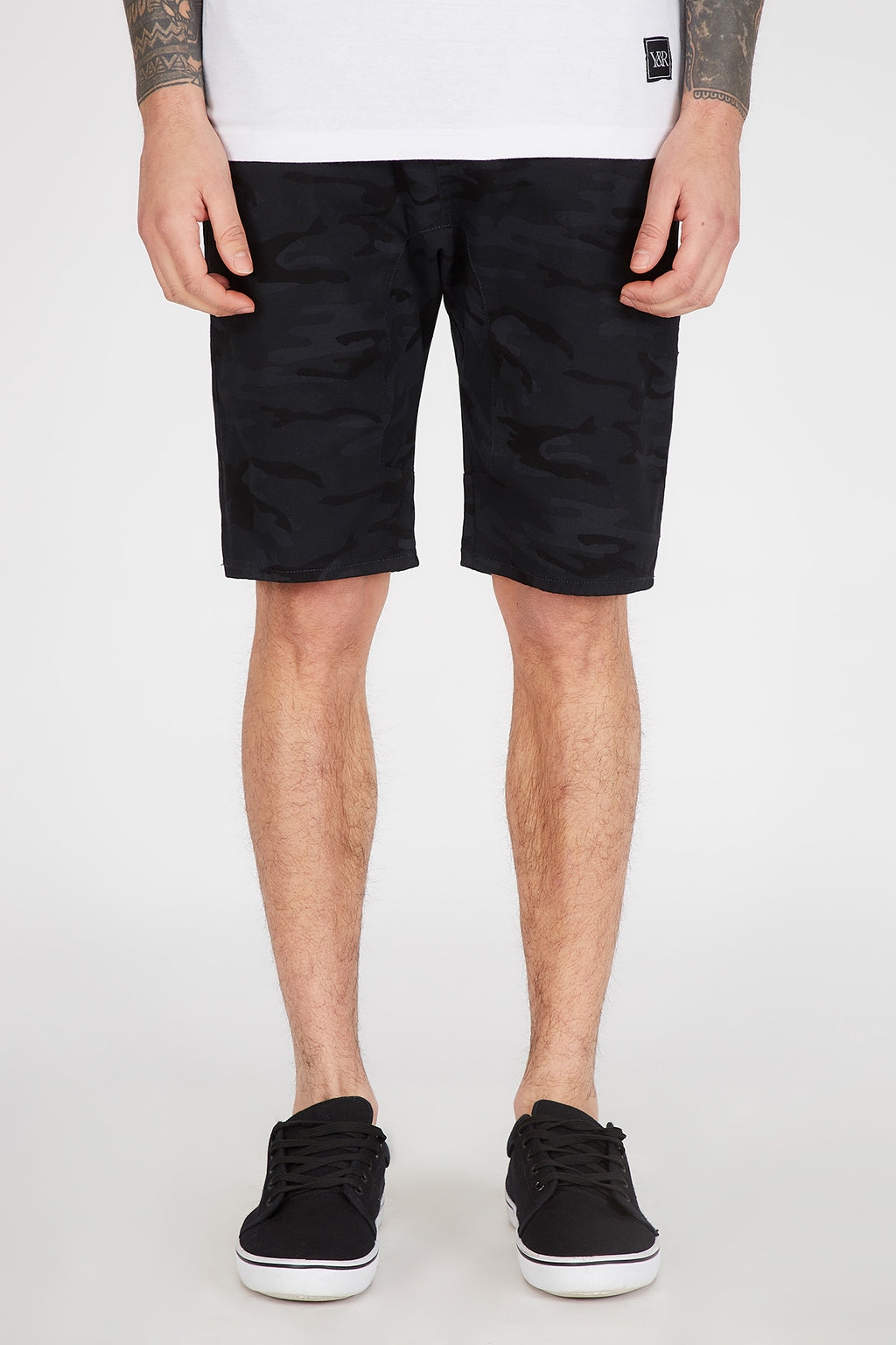 West49 Mens Black Camo Jogger Short