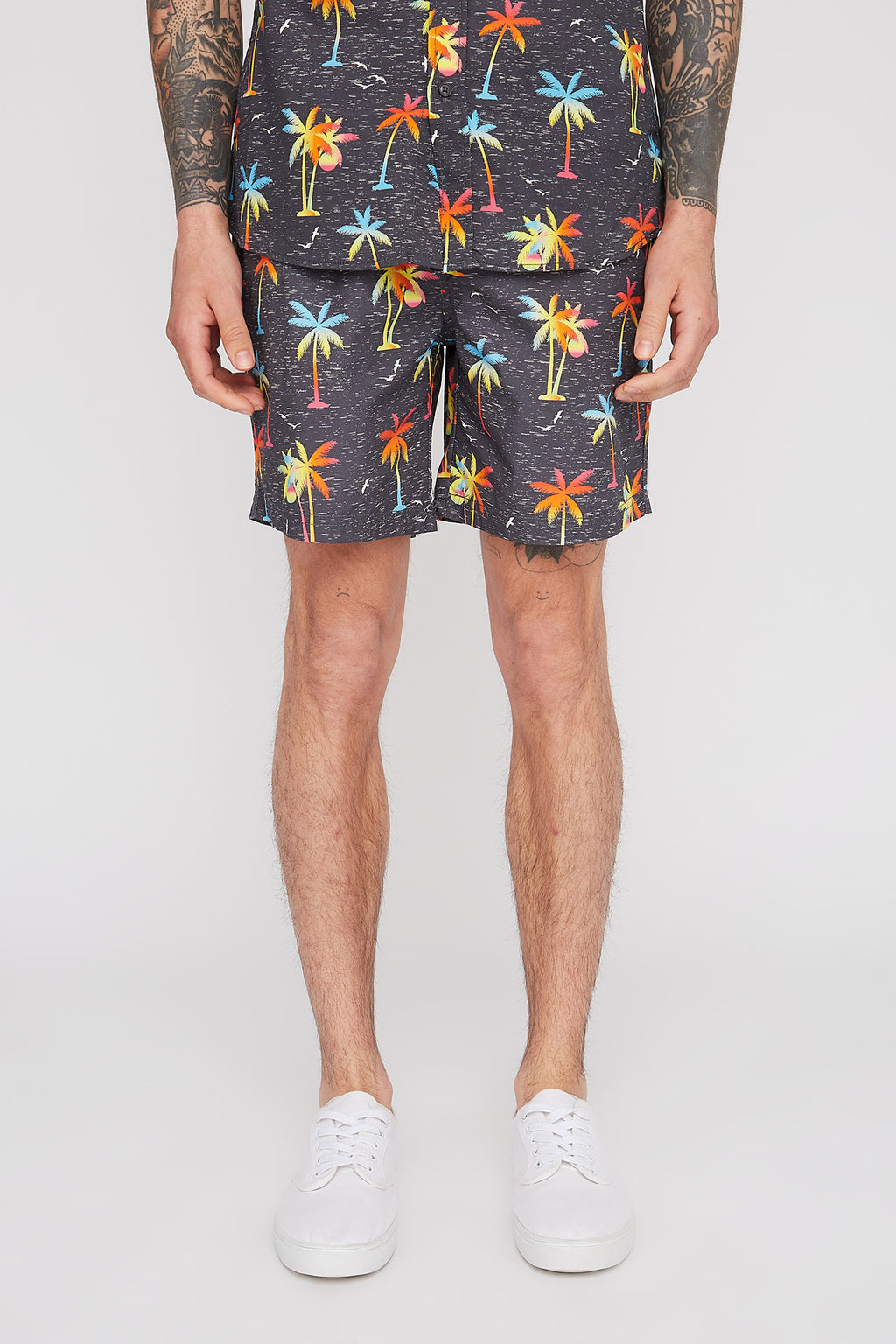Zoo York Mens Graphic Pull-On Beach Shorts