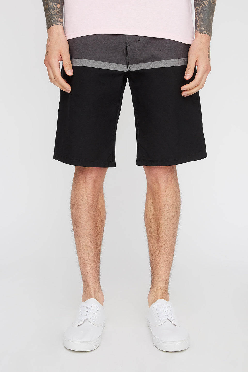 West49 Mens Colour Block Skate Shorts