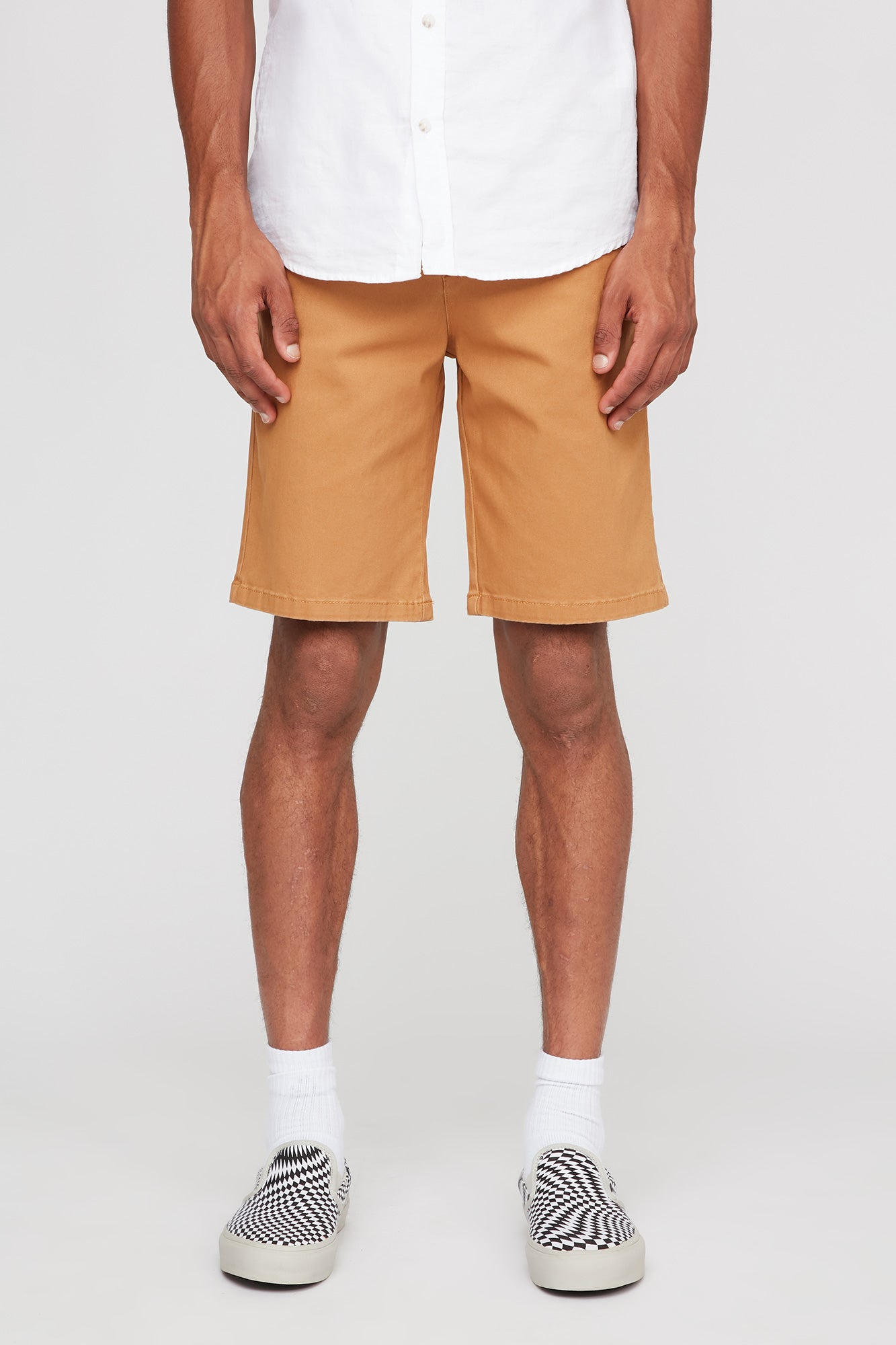 West 49 Guys Chino Relaxed Mustard Shorts