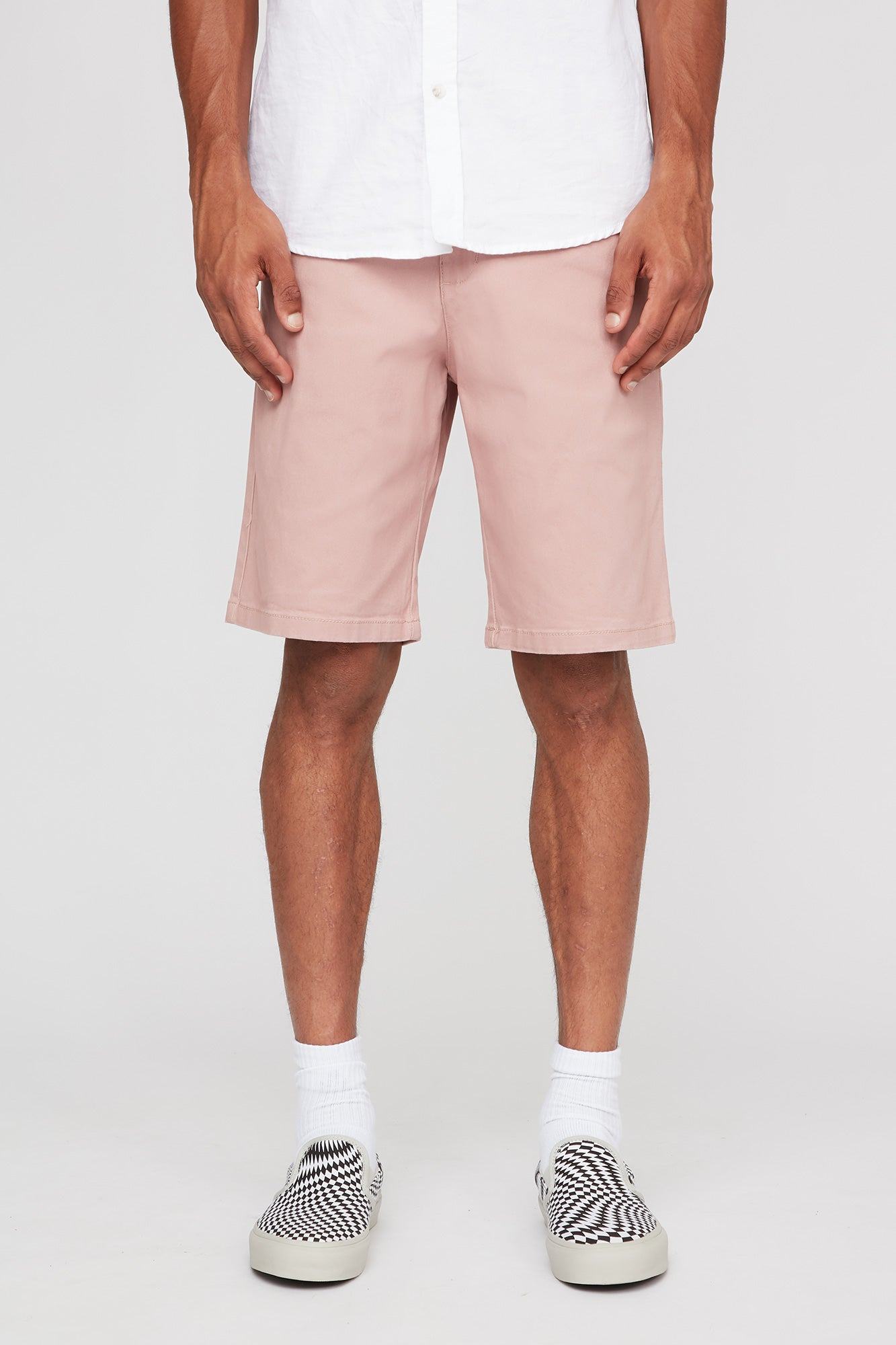 West 49 Guys Chino Relaxed Rose Shorts