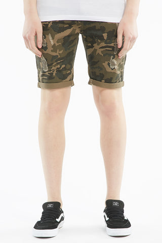 West 49 Slim Bull Destroy Jeans Shorts