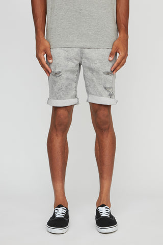 Mens 5 Pocket Relaxed Frayed Cuff Shorts