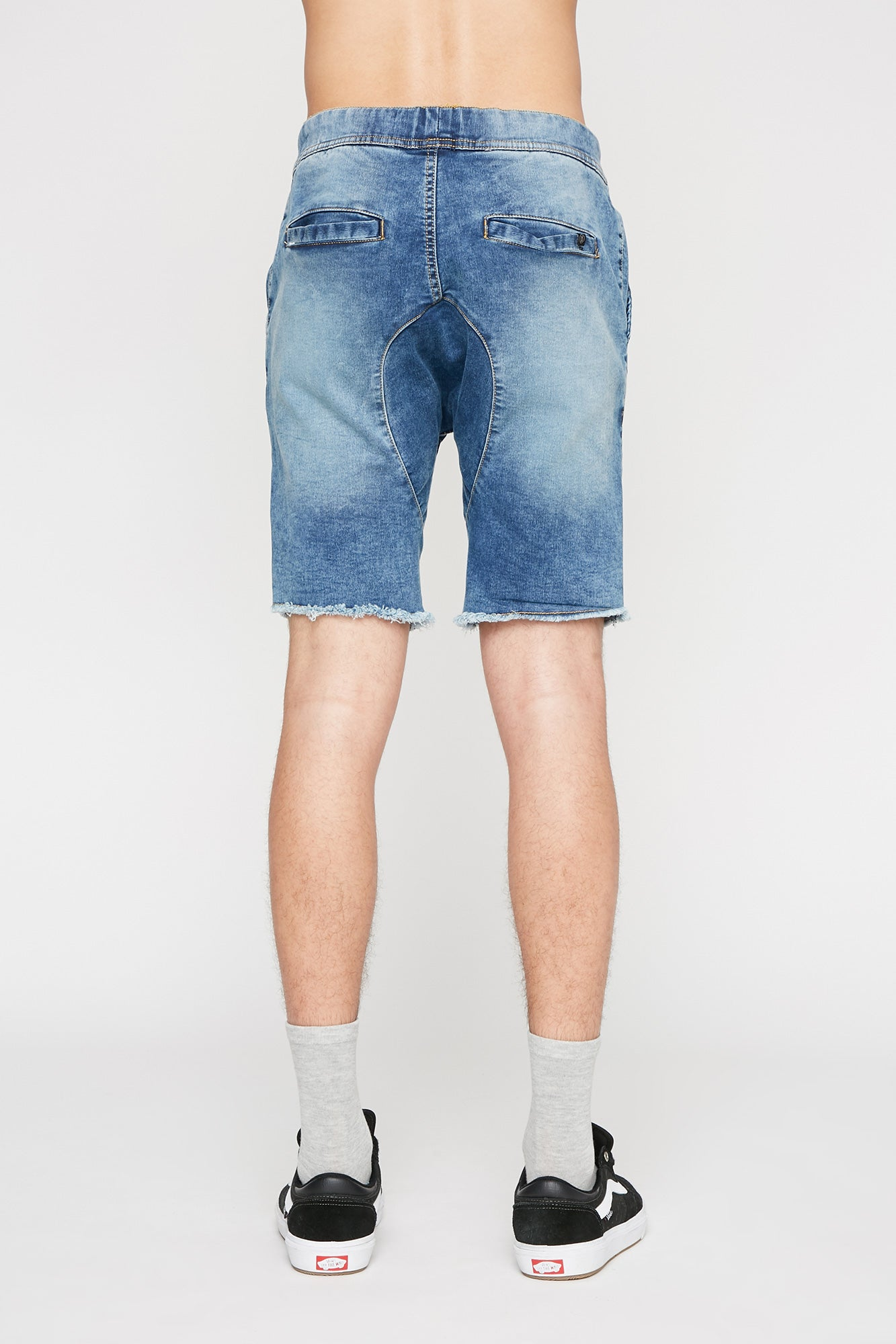 West 49 Mens Knit Denim Jogger Shorts