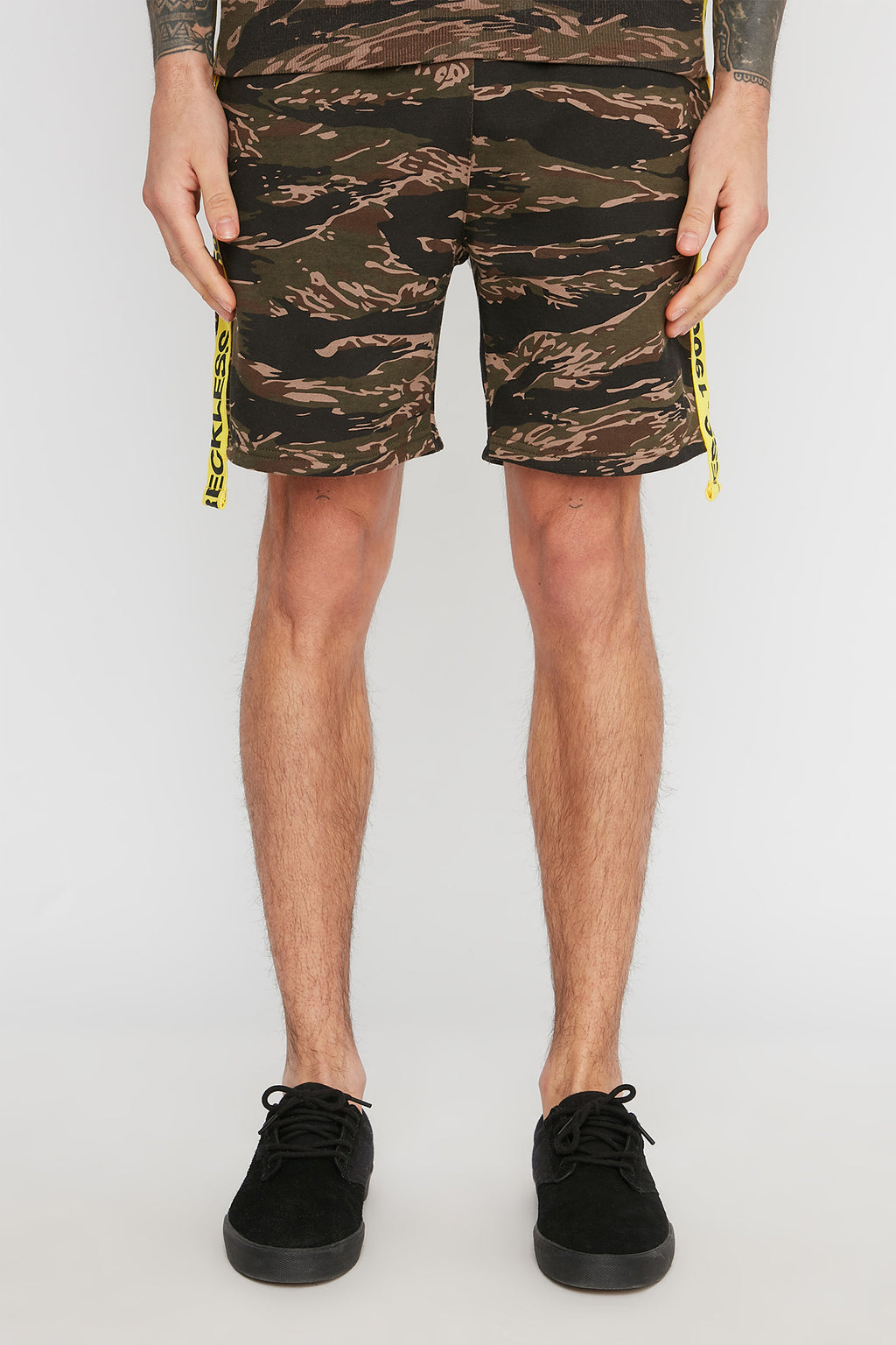 Young & Reckless Mens Tiger Camo Shorts