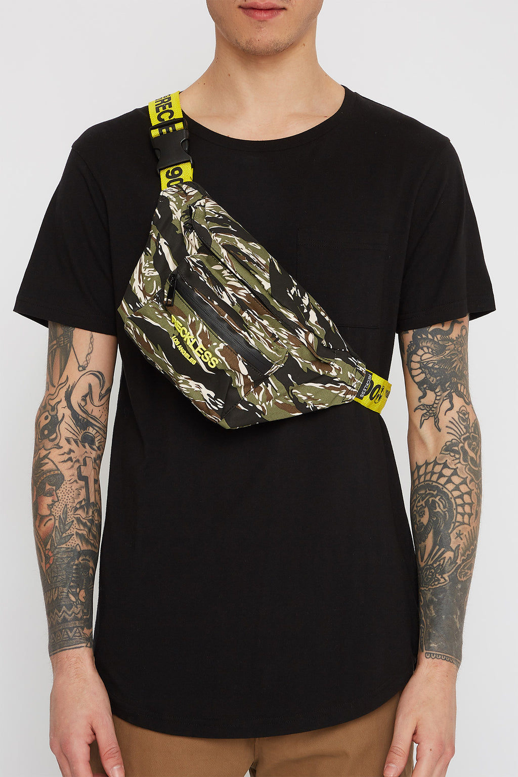 Young & Reckless Tiger Camo Fanny Pack