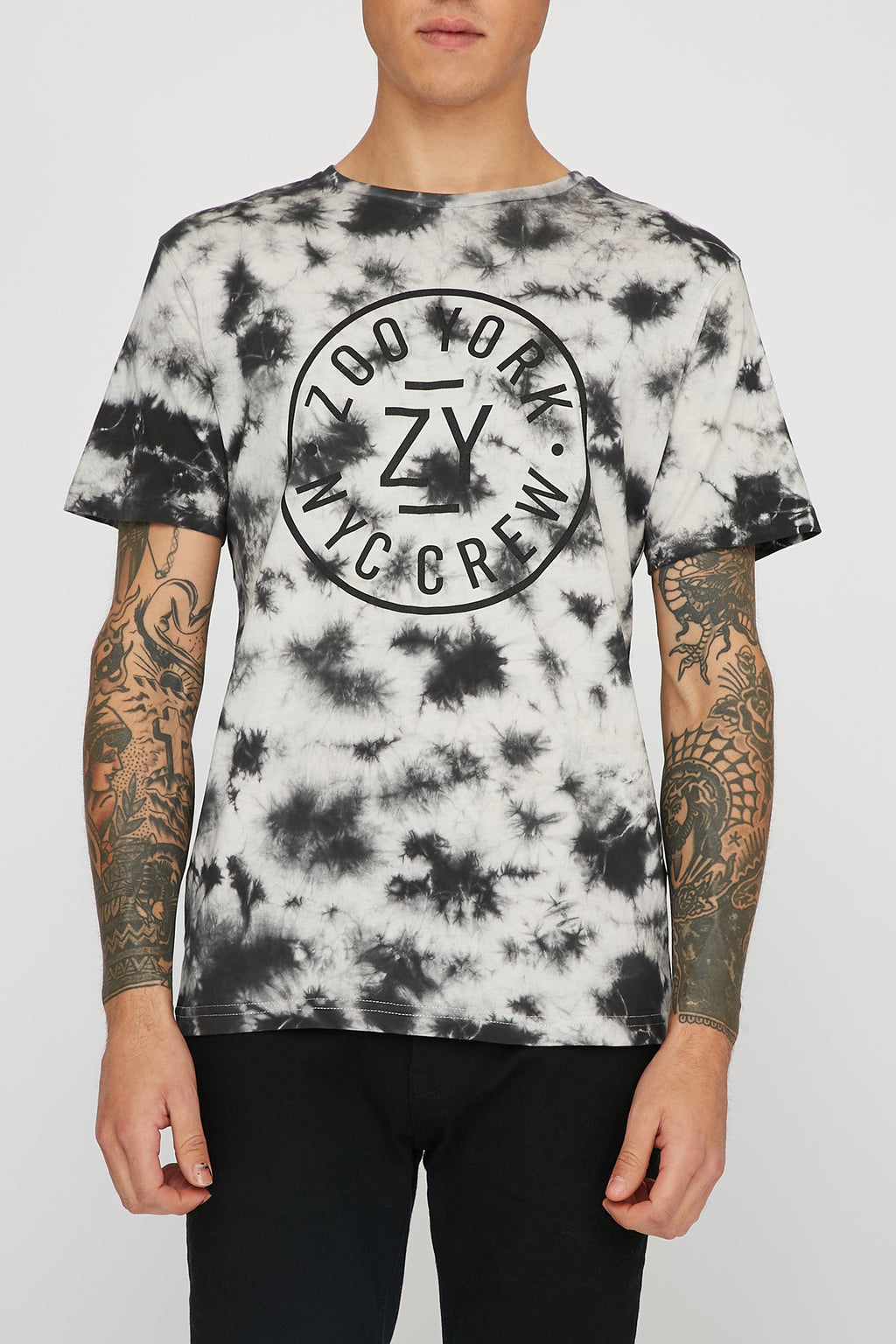 Zoo York Mens NYC Crew Tie Dye T-Shirt
