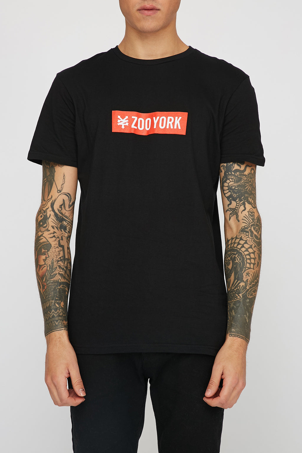 Zoo York Mens Red Box Logo T-Shirt
