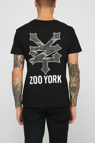Zoo York Mens Camo Filled Logo T-Shirt