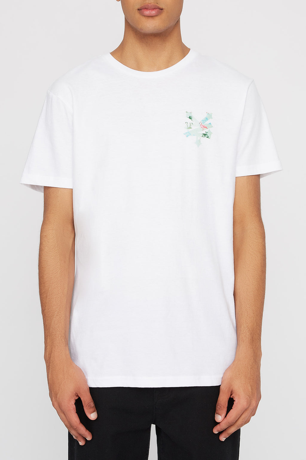 Zoo York Mens Flamingo Logo T-Shirt