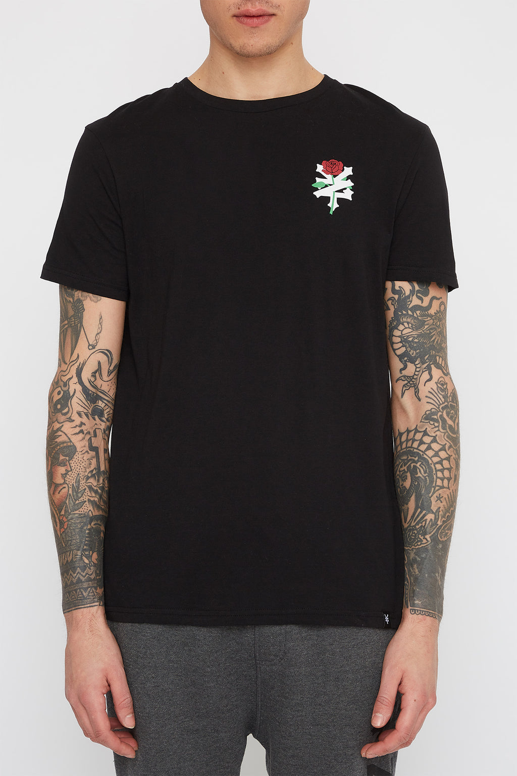 Zoo York Mens Rose Logo T-Shirt