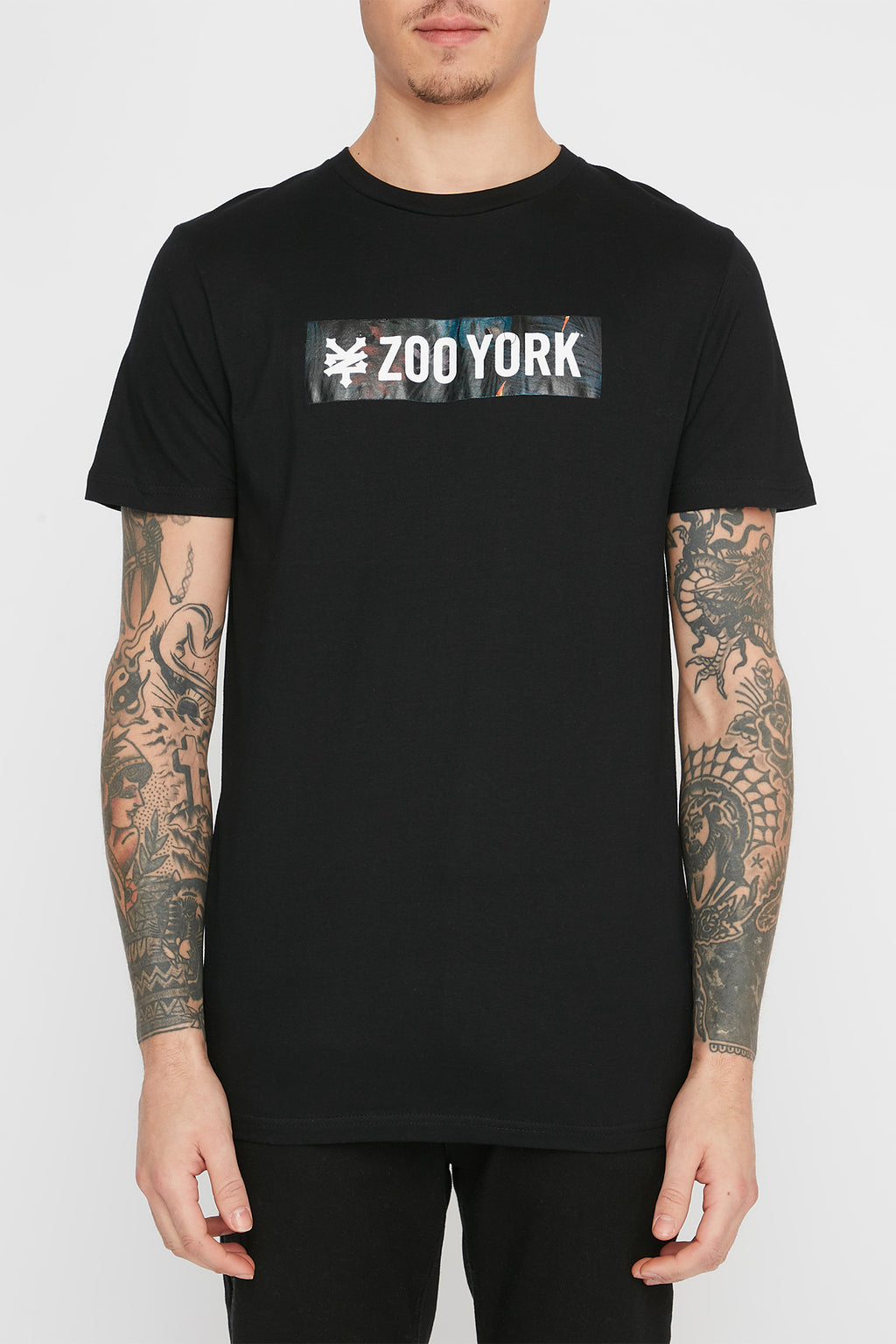 Zoo York Mens Floral Box Logo T-Shirt
