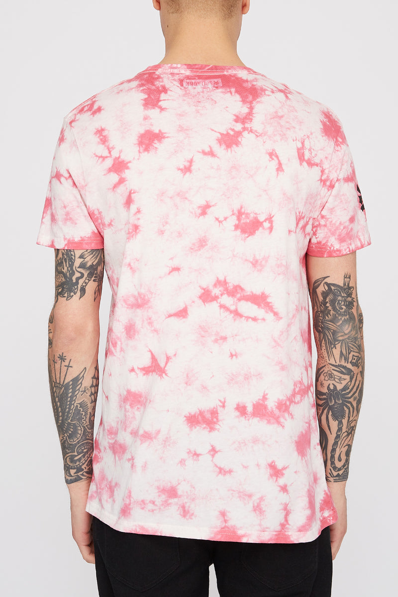 Zoo York Mens Pink Tie Dye T-Shirt