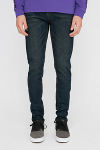 Zoo York Mens Skinniest Dark Wash Jeans