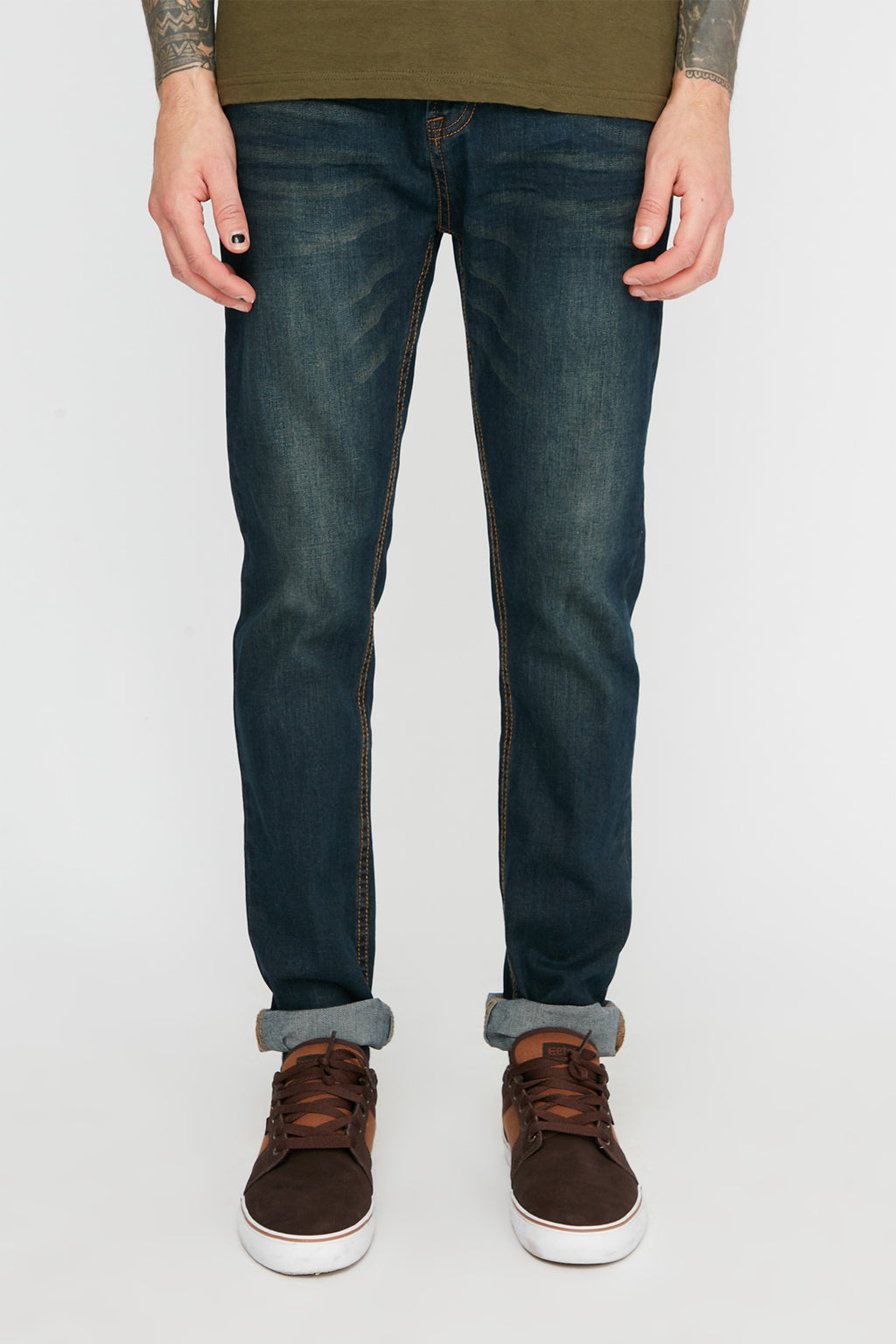 Zoo York Mens Skinny Dark Wash Jeans