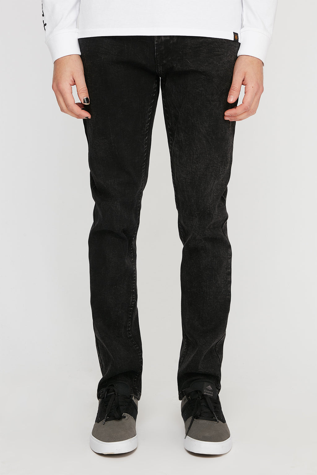 Zoo York Mens Slim Black Jeans