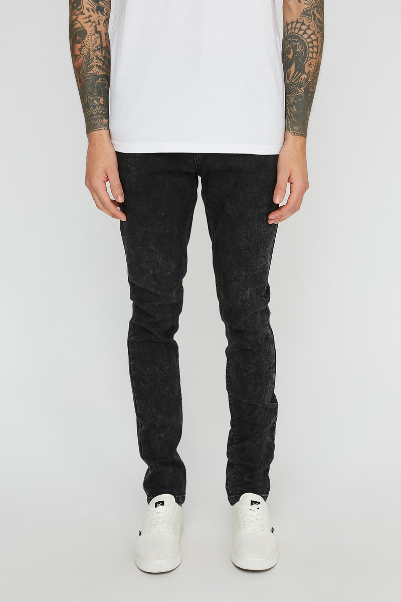 Zoo York Mens Super Skinny Black Jeans