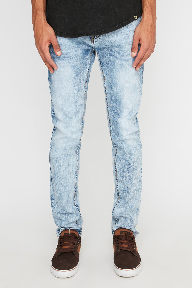 Zoo York Mens Light Wash Skinny Jeans