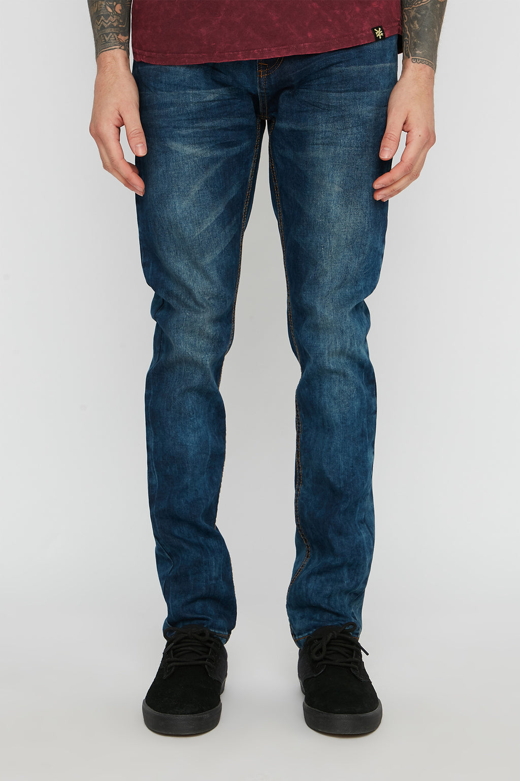 Zoo York Mens Dark Blue Skinny Jeans