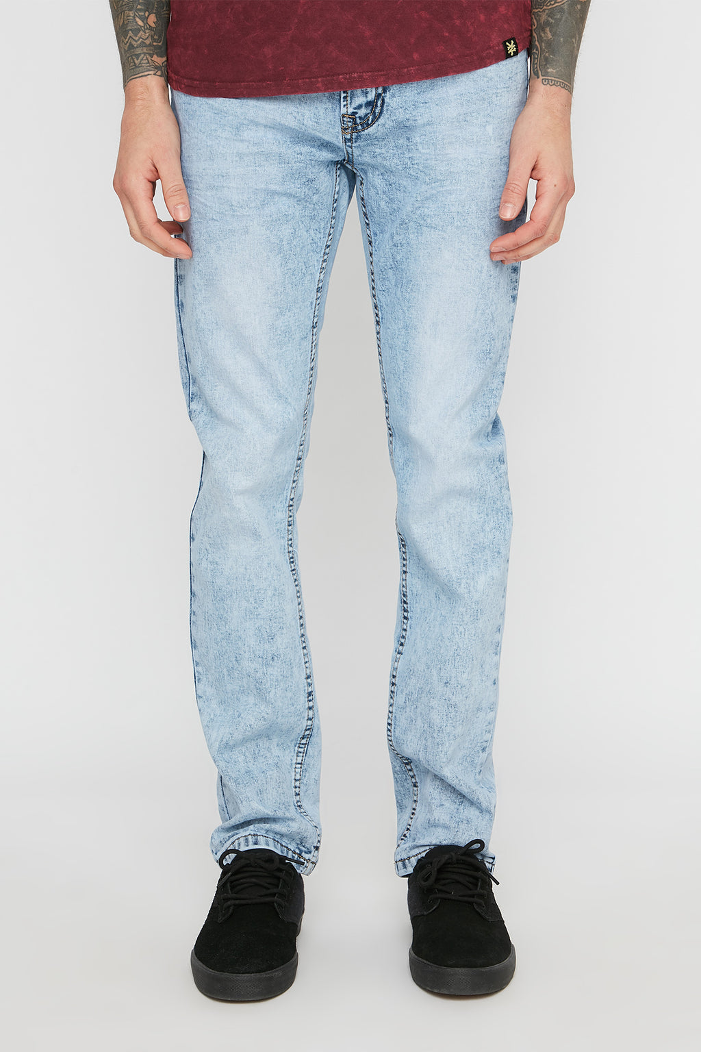 Zoo York Mens Light Wash Slim Jeans