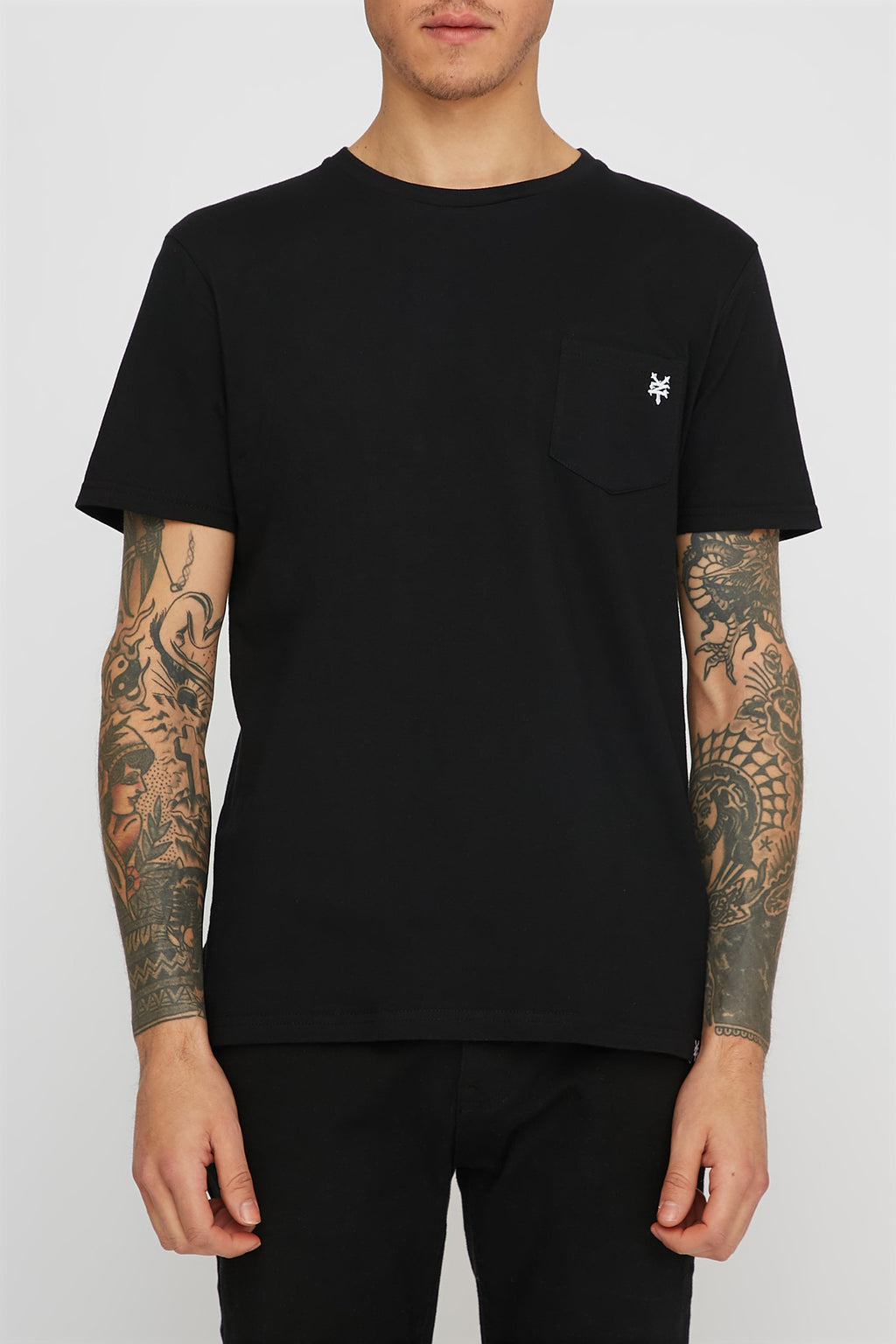 Zoo York Mens Solid Pocket T-Shirt