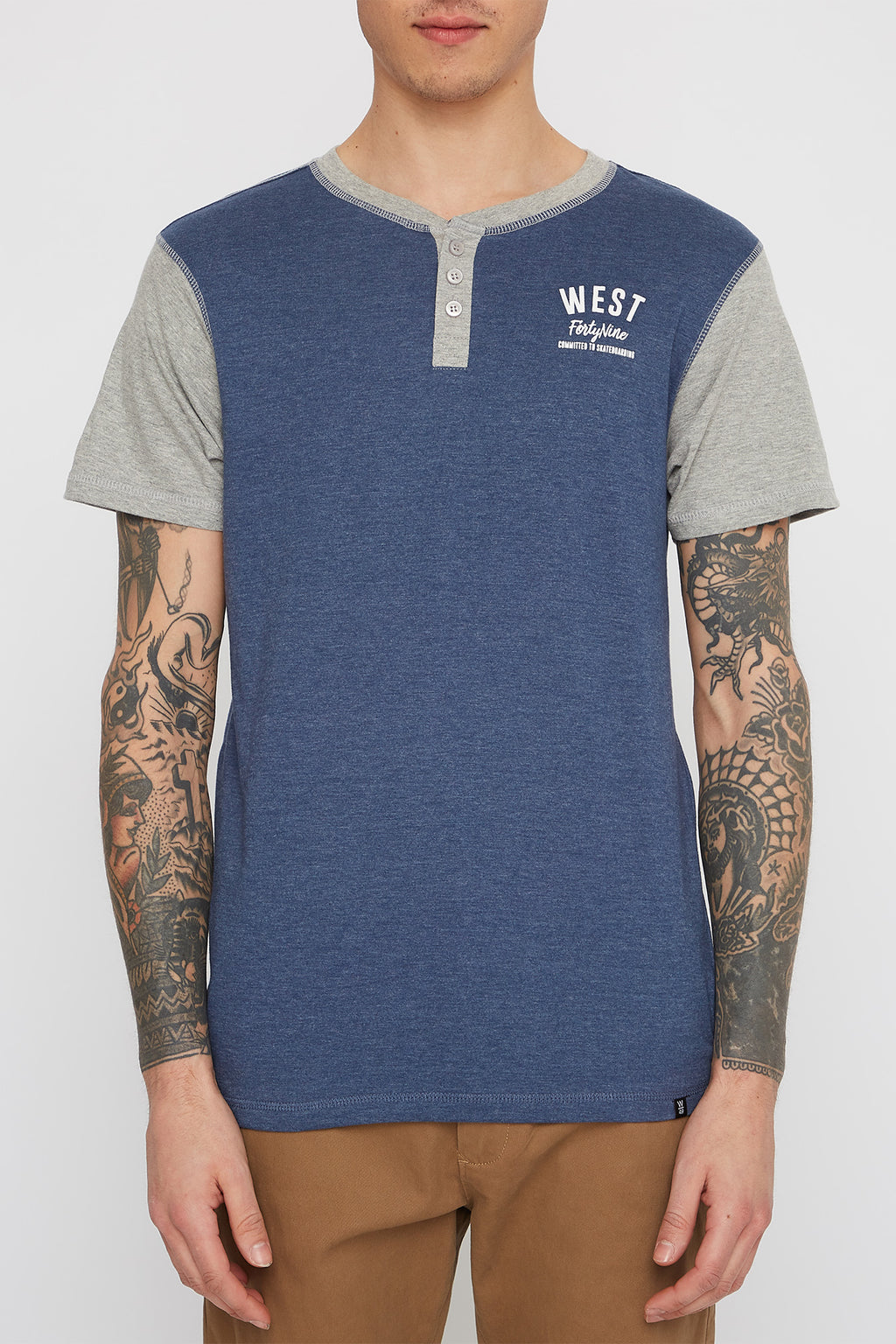 West49 Mens Henley T-Shirt