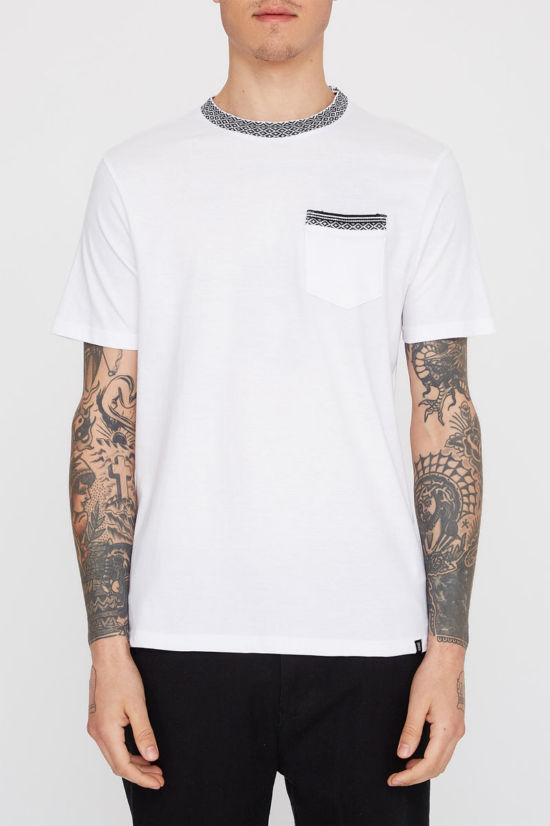 West49 Mens Contrast Collar T-Shirt
