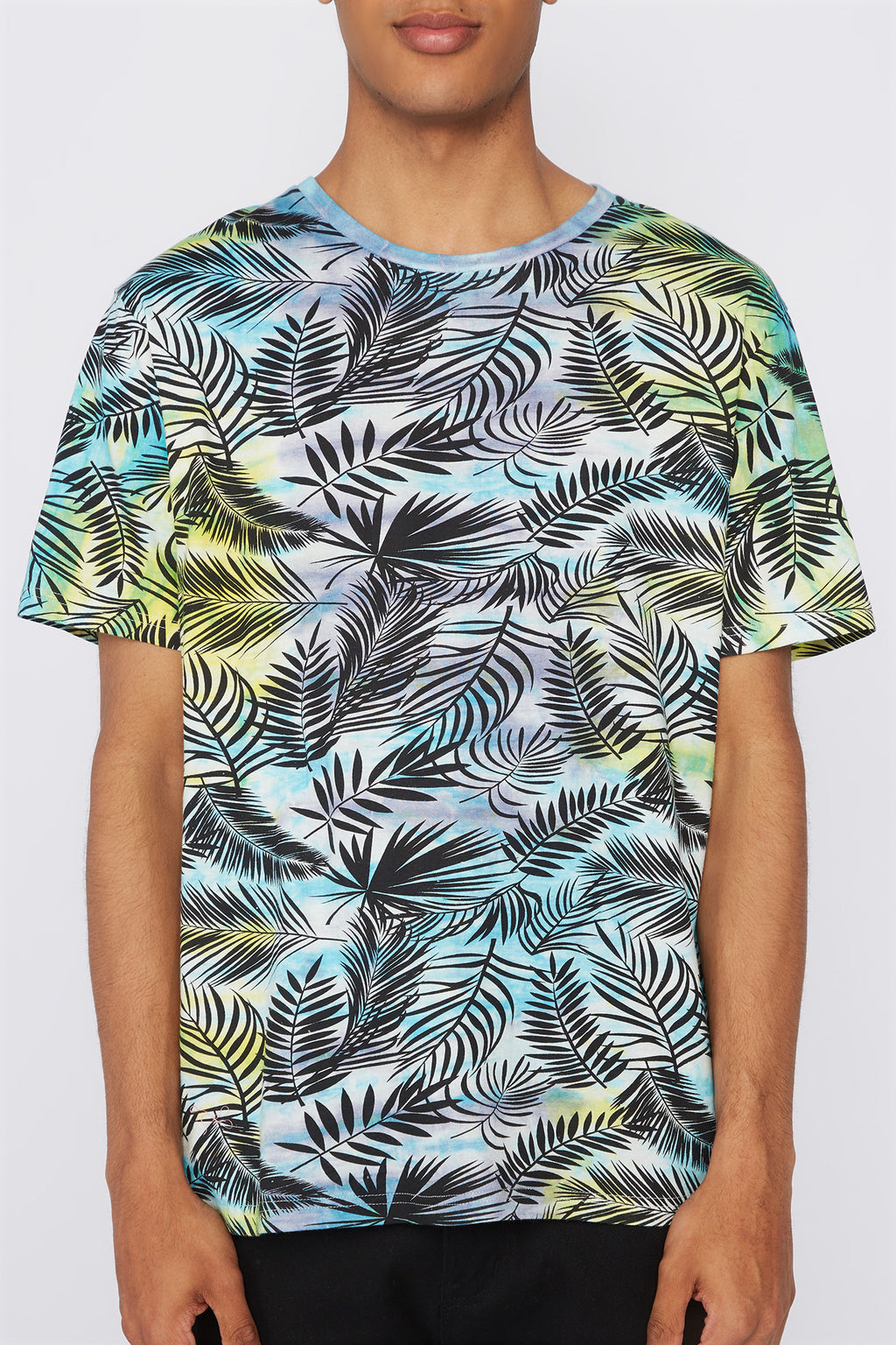 West49 Mens Tie-Dye Palm Tree T-Shirt